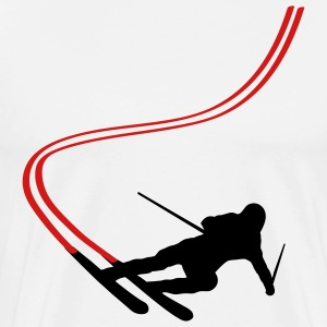 White Ski T-Shirts - Men's Premium T-Shirt
