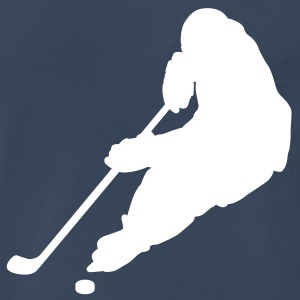 Navy hockey puck T-Shirts - Men's Premium T-Shirt