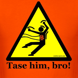 Orange To Tase or Not To Tase T-Shirts - Men's T-Shirt