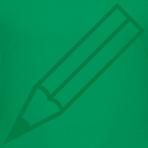 Kelly green pencil Kids' Shirts - Kids' Premium T-Shirt