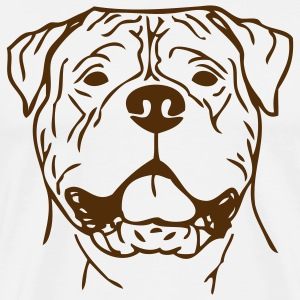 Natural bullmastiff0z01 T-Shirts - Men's Premium T-Shirt