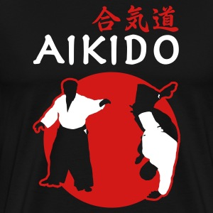Black Aikido T-Shirts - Men's Premium T-Shirt