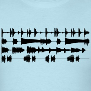 4 track waveforms - black small T-Shirts Sky blue - Men's T-Shirt