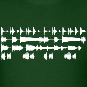 4 track waveforms T-Shirts Forest green - Men's T-Shirt