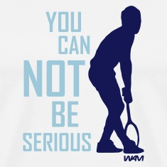 White McEnroe you can not be serious by wam T-Shirts