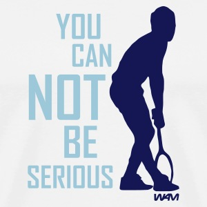 White McEnroe you can not be serious by wam T-Shirts - Men's Premium T-Shirt