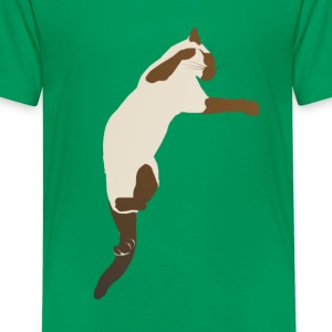 Leaping Siamese Cat - Kids' Premium T-Shirt