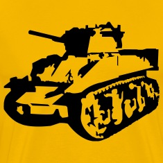 Yellow Military Tank T-Shirts