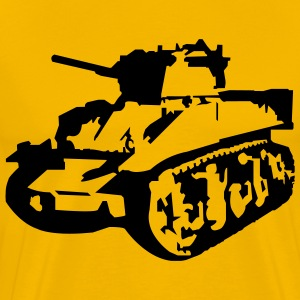 Yellow Military Tank T-Shirts - Men's Premium T-Shirt