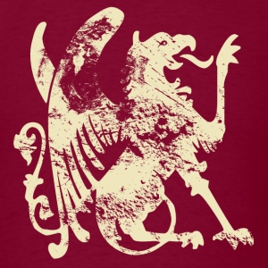 Burgundy fashion vintage lion dragon T-Shirts - Men's T-Shirt