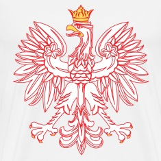 Polish Eagle Outlined In Red