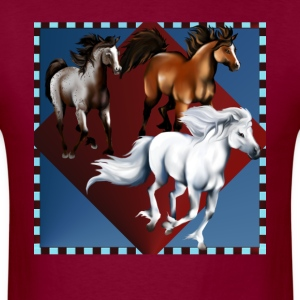Three Mustangs - Men's T-Shirt