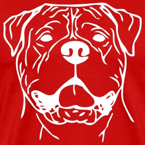 Red bullmastiff0z01 T-Shirts - Men's Premium T-Shirt