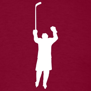 Burgundy hockey player T-Shirts - Men's T-Shirt