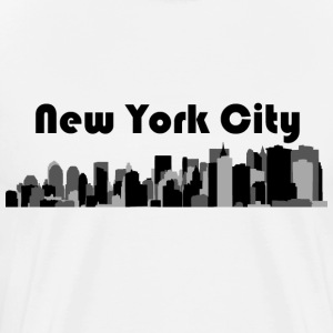 White NYC Lower Manhattan 3 T-Shirts - Men's Premium T-Shirt