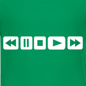 Kelly green Player Button - DJ Kids Shirts - Kids' Premium T-Shirt