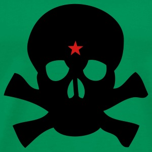Bright green Skull Star T-Shirts - Men's Premium T-Shirt