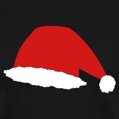 Black Santa Hat T-Shirts