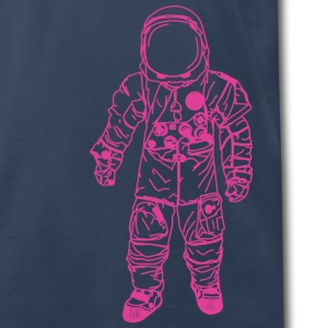 Navy moon man Pink T-Shirts - Men's Premium T-Shirt