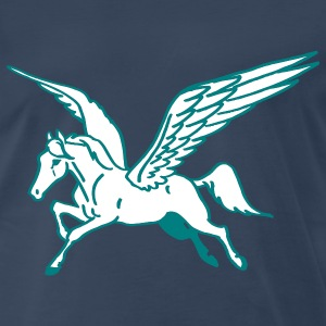 Navy Flying Horse T-Shirts - Men's Premium T-Shirt