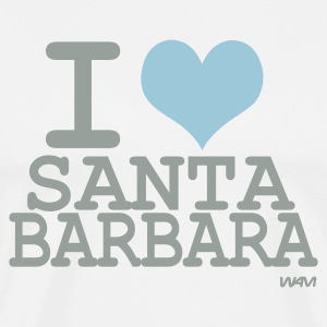 White i love santa barbara by wam T-Shirts - Men's Premium T-Shirt