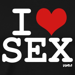 Black i love sex by wam T-Shirts - Men's Premium T-Shirt