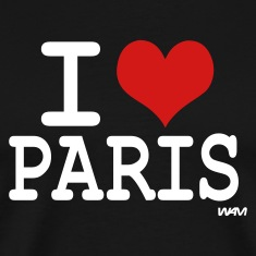 Black I love Paris by wam T-Shirts