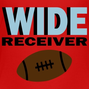 Red Wide Receiver With Football Toddler Shirts - Toddler Premium T-Shirt