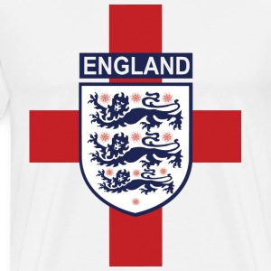 England crest with flag back  - Men's Premium T-Shirt