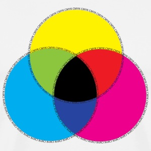 CMYK Color Design Tee - Men's Premium T-Shirt