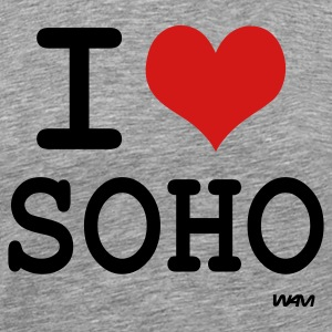 Ash  i love soho by wam T-Shirts - Men's Premium T-Shirt