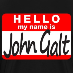 Jumbo HELLO my name is John Galt pick-a-color tee