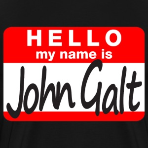 Jumbo HELLO my name is John Galt pick-a-color tee - Men's Premium T-Shirt