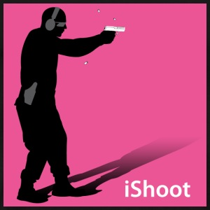iShoot pink on black tee - Men's Premium T-Shirt
