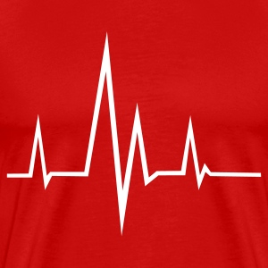 Red Pulse - Frequency - Heartbeat T-Shirts - Men's Premium T-Shirt