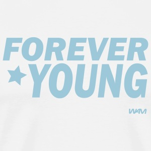 White for ever young by wam T-Shirts - Men's Premium T-Shirt