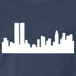 Navy Skyline T-Shirts - Men's Premium T-Shirt