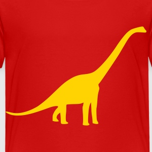 Red Dinosaur - Long Neck Toddler Shirts - Toddler Premium T-Shirt