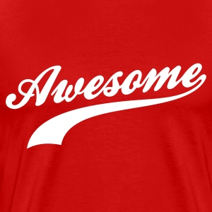 Red Awesome T-Shirts - Men's Premium T-Shirt