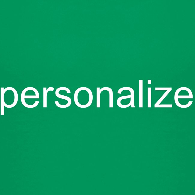 Personalize for Free