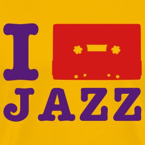 Yellow i love jazz T-Shirts - Men's Premium T-Shirt