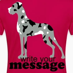Fuchsia Merle Great Dane Plus Size