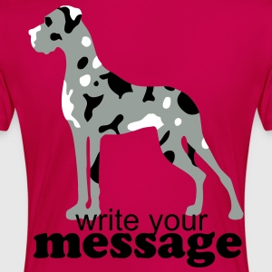 Fuchsia Merle Great Dane Plus Size - Women's Premium T-Shirt