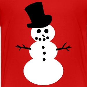 Red Snowman Toddler Shirts - Toddler Premium T-Shirt