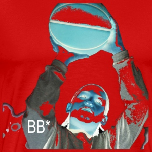 Red hoop_reverse_bb T-Shirts - Men's Premium T-Shirt
