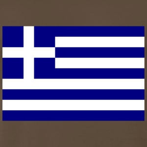 Chocolate Flag of Greece T-Shirts - Men's Premium T-Shirt