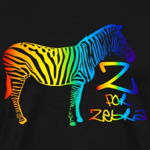 Z for Zebra - Men's Premium T-Shirt