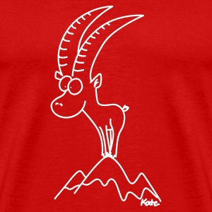 Capricorn, heavyweight tee, red - Men's Premium T-Shirt