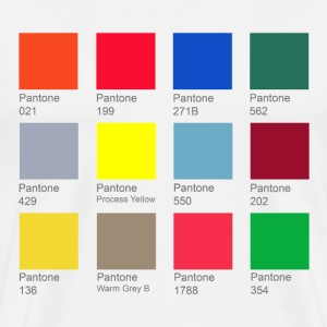 Pnatone Color Chart tee - Men's Premium T-Shirt