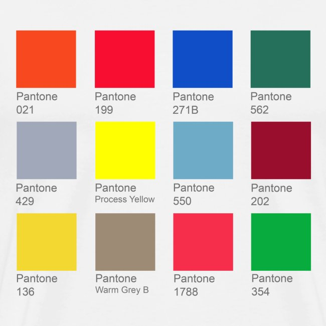 Block 33 Pantone Color Chart Tee Mens Premium T Shirt